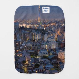 のライト、都市、照らされる場面buildin都市 バープクロス