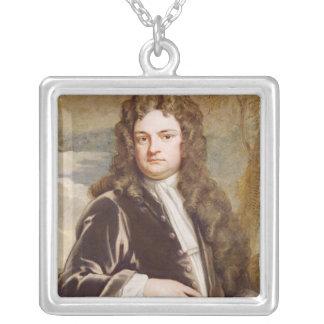のリチャードSteele 1711年ポートレート シルバープレートネックレス