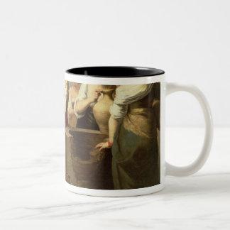 のレベッカそしてEliezerよく、c.1665 ツートーンマグカップ