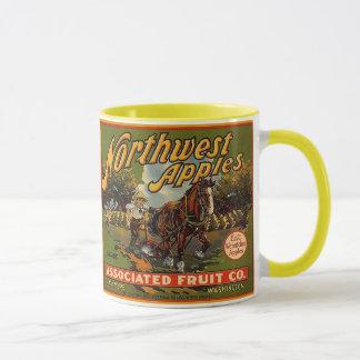 ~のヴィンテージの北西ブランドのAPPLEの木枠のラベルを襲って下さい! マグカップ