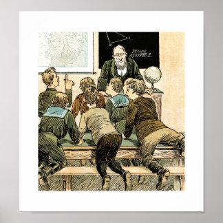の先生ありがとう。 ヴィンテージの芸術のギフトのプリント ポスター