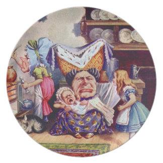 の公爵夫人のKitchenアリス-不思議の国のアリス プレート