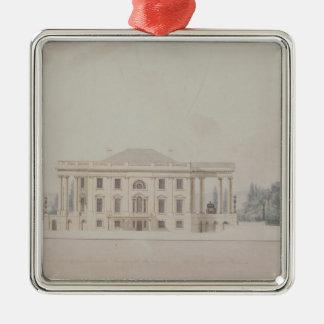 の大統領のHouse 1807年南柱廊玄関 メタルオーナメント