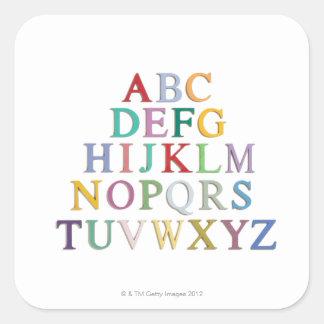 の手紙、アルファベット学ぶこと スクエアシール