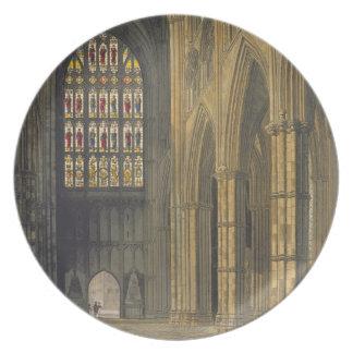 の方に見るウェストミンスター寺院の内部の眺め プレート