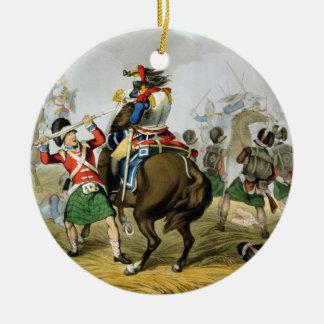 の木炭ワーテルローの戦いのフランスのな胸甲騎兵 セラミックオーナメント