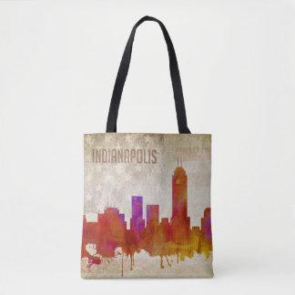 |の水彩画都市スカイラインのインディアナポリス、 トートバッグ
