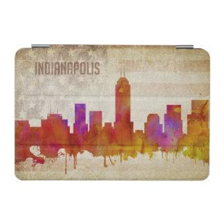 |の水彩画都市スカイラインのインディアナポリス、 iPad MINIカバー