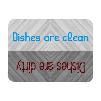  の汚れた皿のディッシュウォッシャーをきれいにして下さい マグネット