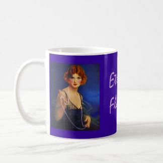 ~の流行のフラッパーの女の子の真夜中の青い服を襲って下さい コーヒーマグカップ
