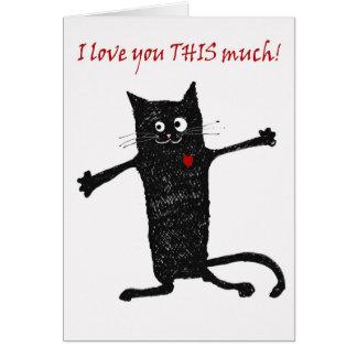 の熱狂するな猫、ユーモア愛して下さい グリーティングカード