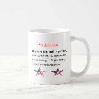 の私の定義嘆かわしい コーヒーマグカップ