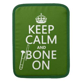 の穏やか、「骨保って下さい(トロンボーン-どの色--でも) iPadスリーブ