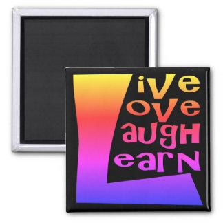 の笑い生きている、愛および学んで下さい マグネット