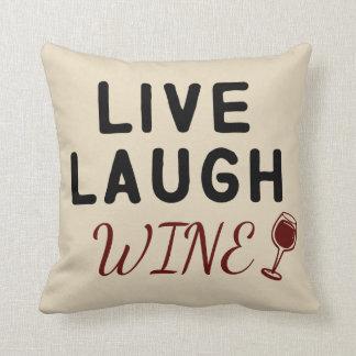 の笑い、ワインの枕生きている クッション