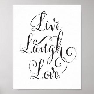 の笑い、愛芸術のプリント生きている ポスター