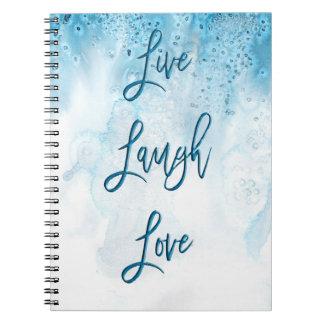 の笑い、愛-ノート生きている ノートブック