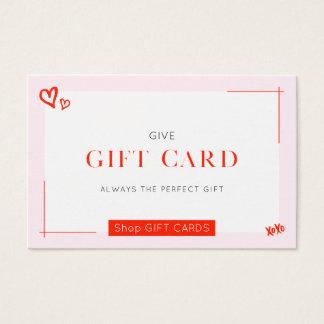 ★の美しいギフトカード 名刺