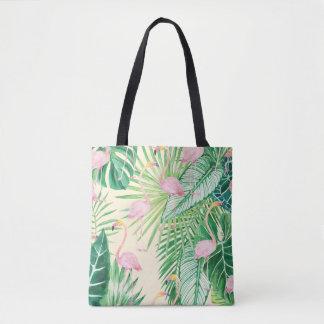 ★の美しいフラミンゴ トートバッグ