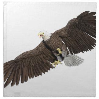 の翼を持つ白頭鷲はなでます ナプキンクロス