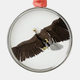 の翼を持つ白頭鷲はなでます メタルオーナメント