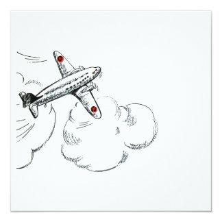 |の航空飛行を引く旧式の飛行機 カード