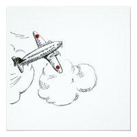  の航空飛行を引く旧式の飛行機