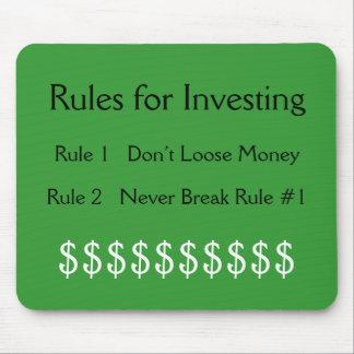 の規則#1のための規則は投資お金を…緩めません マウスパッド