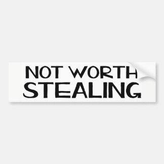  の豊富なラップトップのステッカーの窃盗の価値を持ってない バンパーステッカー