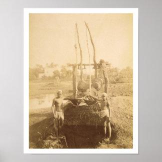 の銀行のエジプトの潅漑機械 ポスター
