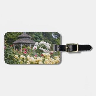 の開花および望楼のバラ園のバラ ラゲッジタグ