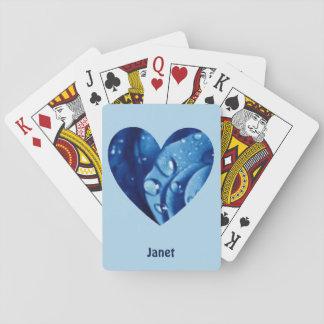 ~の青いハートパターン~の名前入りなジャネットの~ トランプ