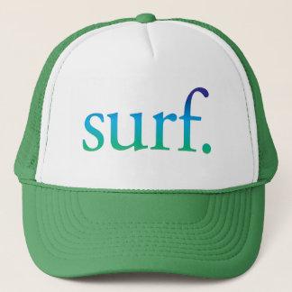 |の青および緑のビーチの波の熱帯帽子をサーフして下さい キャップ