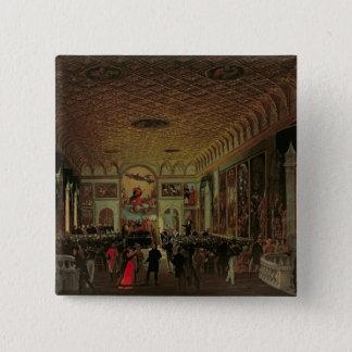 のAntonioカノーバ(1757-1822年)の記念 5.1cm 正方形バッジ