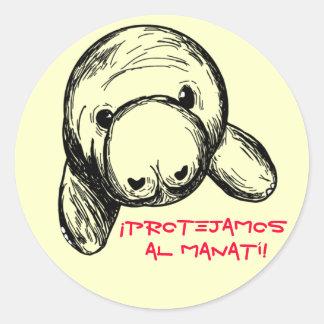 ¡のProtejamosのAl Manatí! ラウンドシール