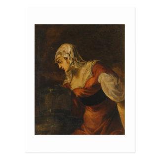 のSamariaの女性よく、c.1560 (cの油 ポストカード