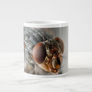 はえのマクロ写真 ジャンボコーヒーマグカップ
