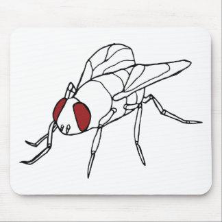 はえの動物の昆虫のイラストレーションのグラフィック マウスパッド