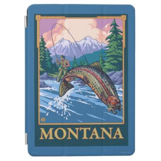 はえの魚釣り場面-モンタナ iPad AIR カバー