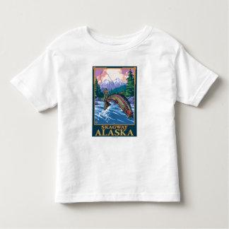 はえの魚釣り場面- Skagway、アラスカ トドラーTシャツ