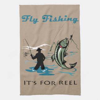 はえの魚釣り キッチンタオル