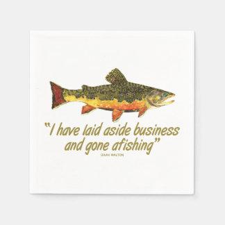 はえの魚釣り スタンダードカクテルナプキン