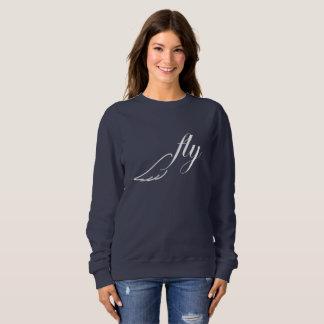 はえの鳥の翼の白および海軍セーター スウェットシャツ