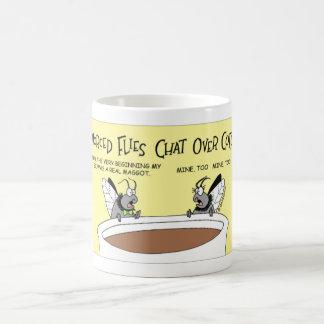 はえは離婚を論議します コーヒーマグカップ