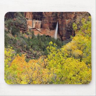 はかない滝は崖のスロットから注ぎます マウスパッド