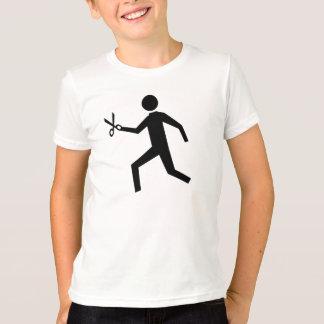 はさみによって走ること Tシャツ