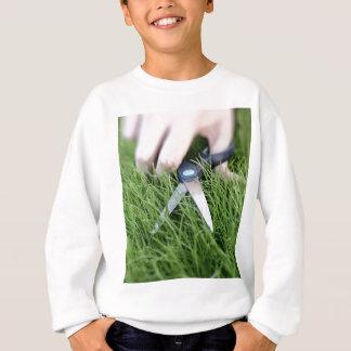 はさみの草の切断 スウェットシャツ