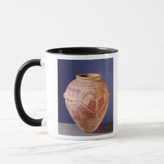 はしけの2つの神社を描写するつぼ マグカップ