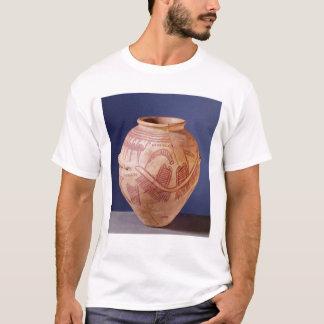 はしけの2つの神社を描写するつぼ Tシャツ