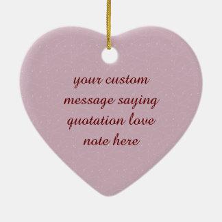 はすあずき色の織り方 陶器製ハート型オーナメント